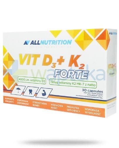 Allnutrition Vit D3 + K2 Forte 30 kapsułek [witamina D3 K2]