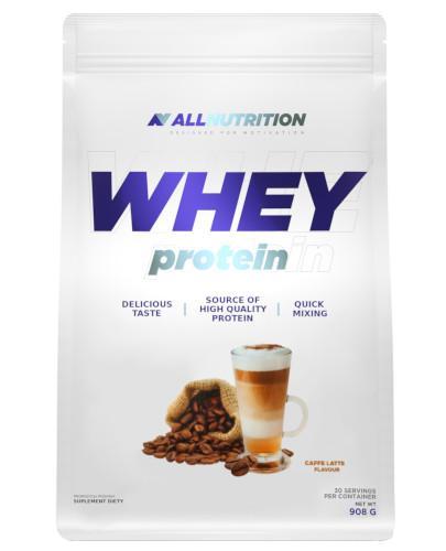 Allnutrition Whey Protein Caffe Latte odżywka wysokobiałkowa o smaku kawy latte 908 g [białko] [DARMOWA DOSTAWA]