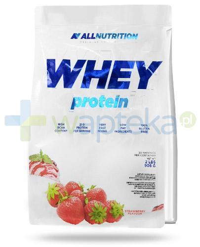 Allnutrition Whey Protein Strawberry odżywka wysokobiałkowa o smaku truskawkowym 908 g [białko] [DARMOWA DOSTAWA]