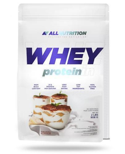 Allnutrition Whey Protein Tiramisu odżywka wysokobiałkowa o smaku tiramisu 908 g [białko]