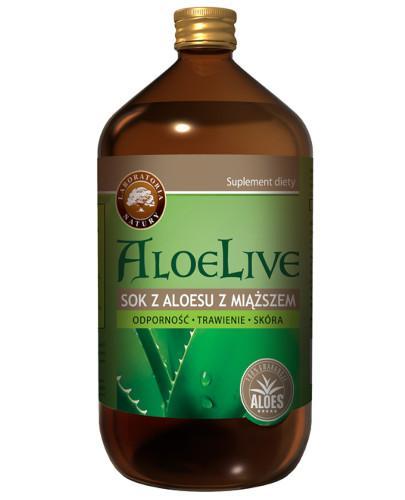 AloeLive Odporność Trawienie Skóra sok z aloesu 99,6% z miąższem 1000 ml