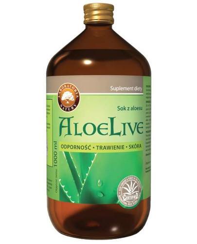 AloeLive Odporność Trawienie Skóra sok z aloesu 99,7% 1000 ml