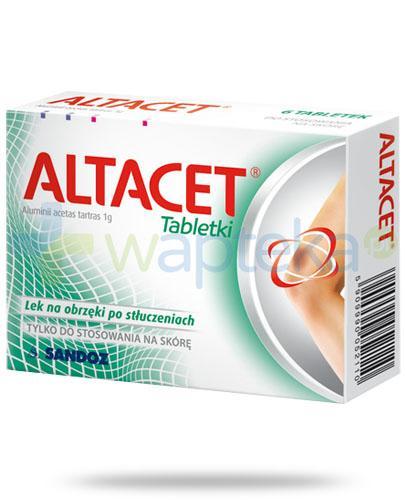 Altacet Tabletki na obrzęki po stłuczeniach 6 tabletek