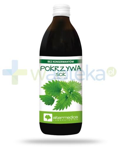 AlterMedica Pokrzywa sok z pokrzywy pasteryzowany 500 ml
