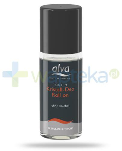 Alva For Him dezodorant z kryształu roll-on 50 ml