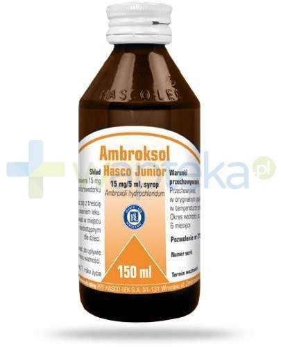 Ambroksol Hasco Junior 15mg/5ml syrop dla dzieci 150 ml