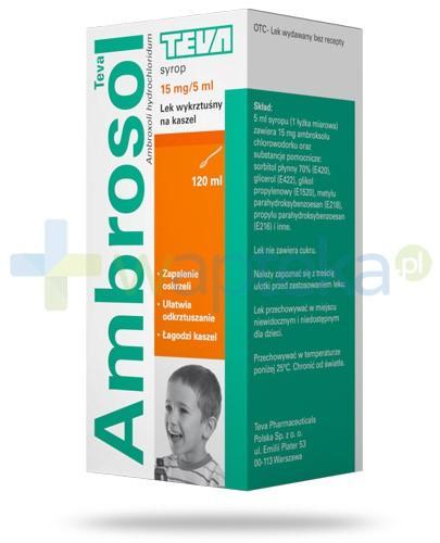 Ambrosol 15mg/5ml syrop na kaszel 120 ml