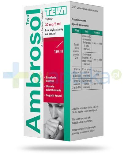 Ambrosol 30mg/5ml syrop na kaszel 120 ml