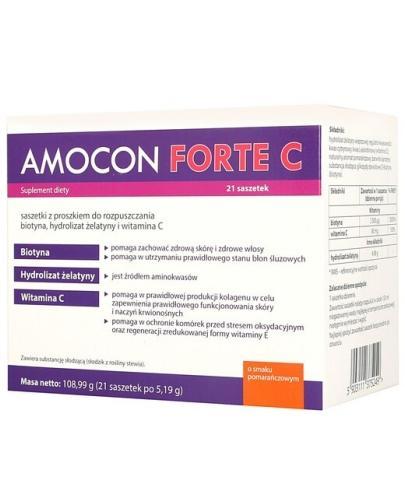 Amocon Forte C proszek o smaku pomarańczowym 21 saszetek