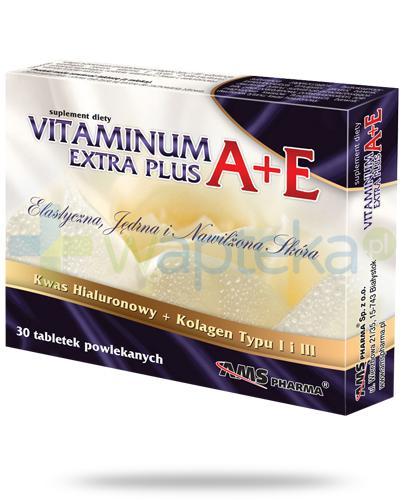 AMS Vitaminum A+E Extra Plus 30 tabletek [Data ważności 25-05-2019]