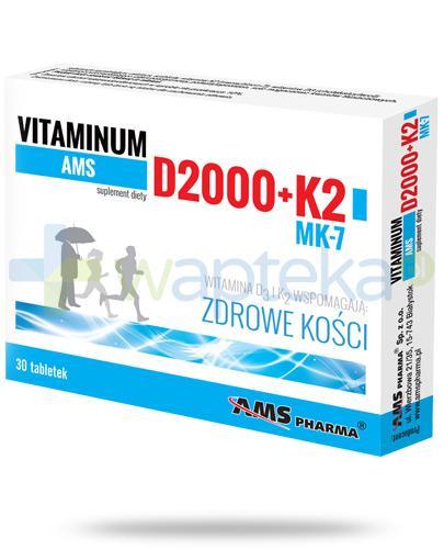 AMS Vitaminum D 2000 + K2 MK-7 30 tabletek
