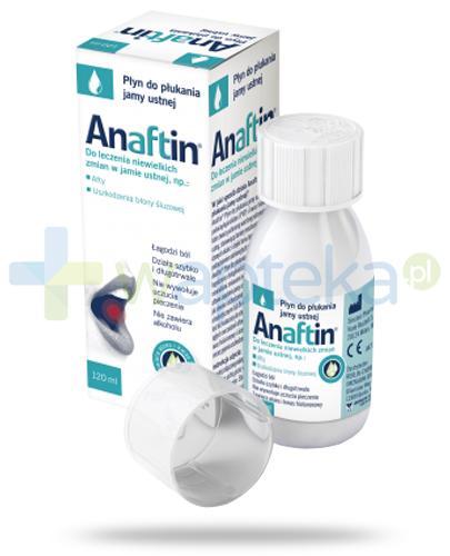 Anaftin płyn do płukania jamy ustnej na afty 120 ml