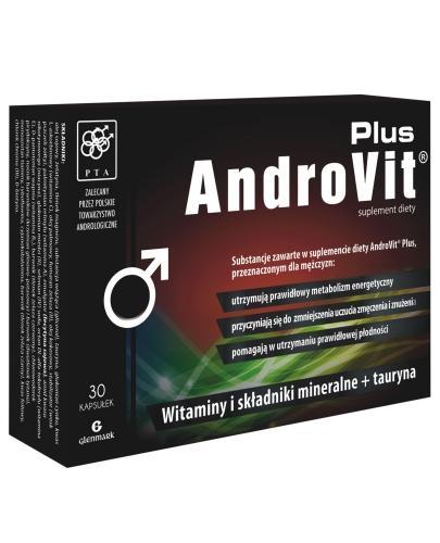 AndroVit Plus witaminy i składniki mineralne + tauryna 30 kapsułek - Data ważności 04-03-2017