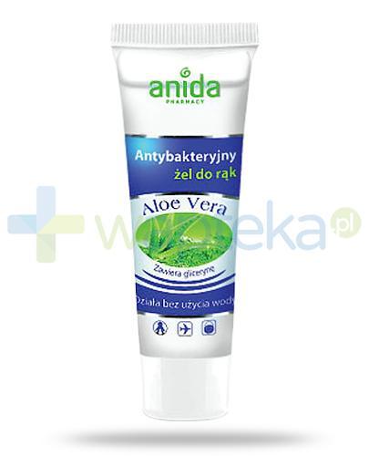 Anida Aloe Vera antybakteryjny żel w tubie do mycia rąk bez użycia wody 50 ml