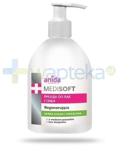 Anida Medi Soft emulsja do rąk i ciała z woskiem pszczelim regenerująca 500 ml