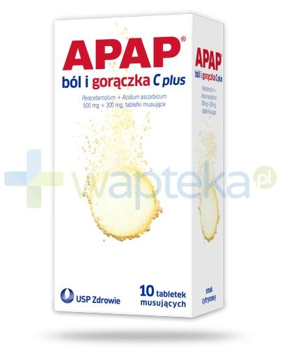 Apap ból i gorączka C Plus 10 tabletek musujących