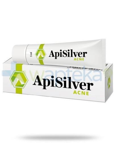APISILVER ACNE preparat łagodzący zmiany trądzikowe i zapalne 5ml