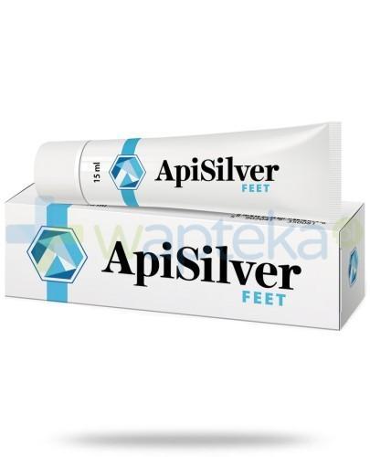 APISILVER FEET łagodzi zmiany spowodowane rogowaceniem naskórka 15ml