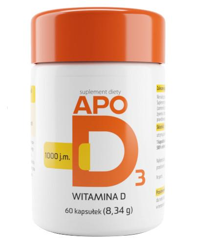 Apo D3 1000j.m. witamina D3 60 kapsułek