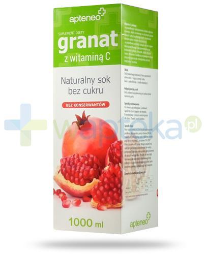 Granat z witaminą C naturalny sok z owoców granatu 1000 ml [Data ważności 27-02-2018]