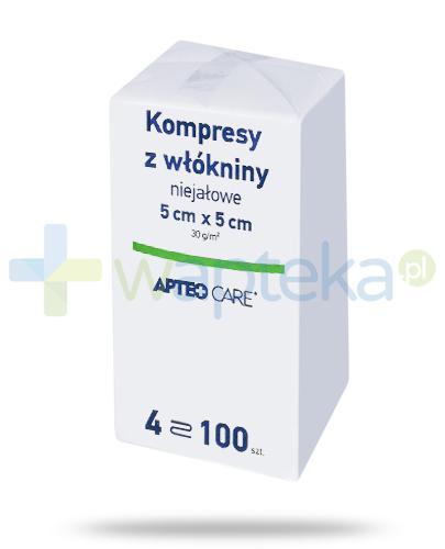 Apteo Care niejałowe kompresy z włókniny 5cm x 5cm 100 sztuk