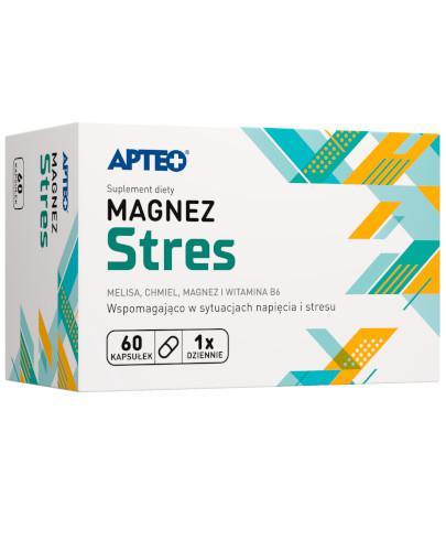 Apteo Magnez Stres 60 kapsułek