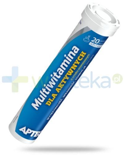 Apteo Multiwitamina dla aktywnych o smaku ananasowym 20 tabletek musujących