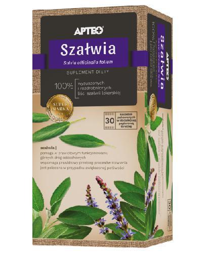 Apteo Natural Szałwia zioła do zaparzania 30 saszetek