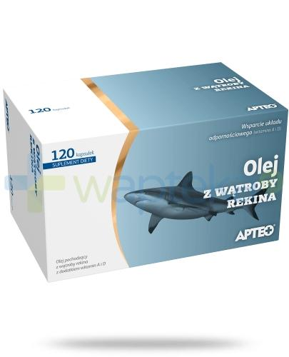 Apteo Olej z wątroby rekina 120 kapsułek