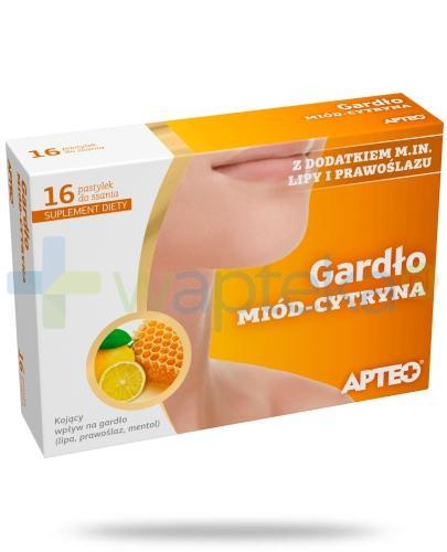 Apteo Plus Gardło miód-cytryna 16 pastylek