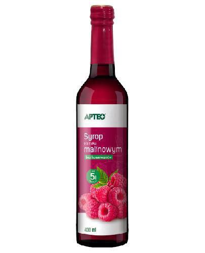 Apteo Syrop o smaku malinowym 430 ml