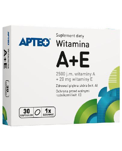 Apteo Witamina A + E 30 kapsułek