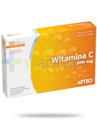 Apteo Witamina C 200 mg 50 tabletek
