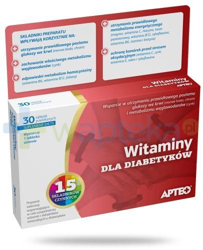 Apteo Witaminy dla diabetyków 30 sztuk