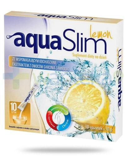Aqua Slim Lemon z ekstraktem z owoców garcinia cambogia 10x 10 g