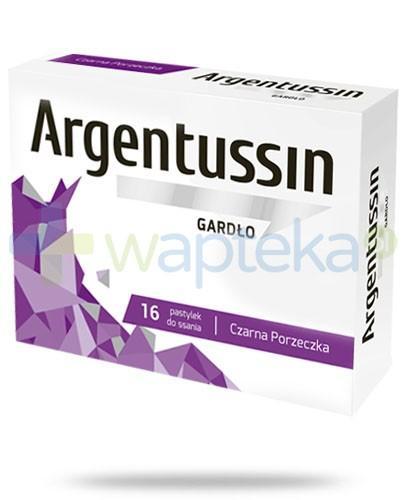 ArgenTussin Gardło smak czarna porzeczka 16 sztuk