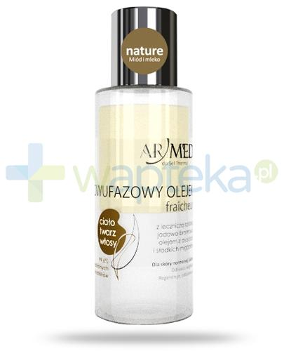 ArMed Nature Miód i mleko dwufazowy olejek suchy 90 ml + ArMed Natural Oil maska do dłoni i stóp 20 ml [GRATIS]