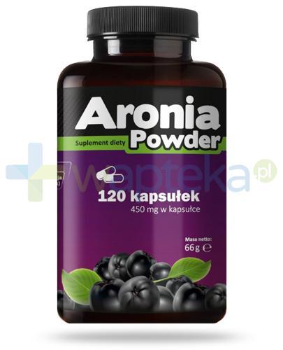 Aronia Powder 450mg błonnik w kapsułkach 120 sztuk PharmoVit