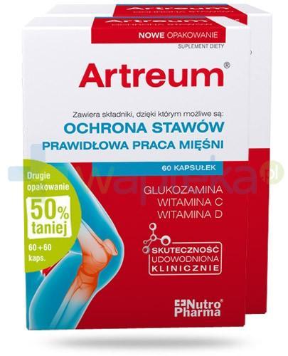 NutroPharma Artreum ochrona stawów i prawidłowa praca mięśni 2x 60 kapsułek