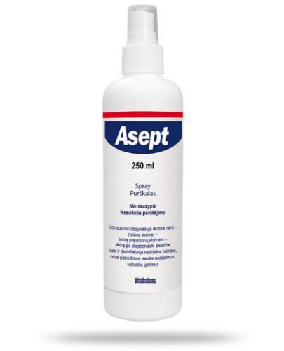 Asept spray do dezynfekcji i oczyszczania skóry 250 ml