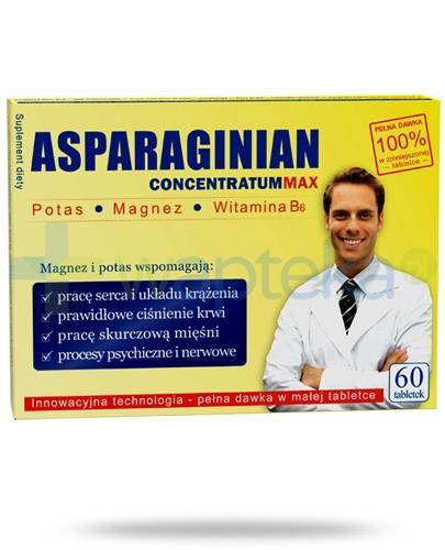 Asparaginian Concentratum Max 60 tabletek