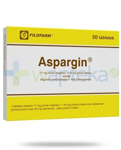 Aspargin 50 tabletek