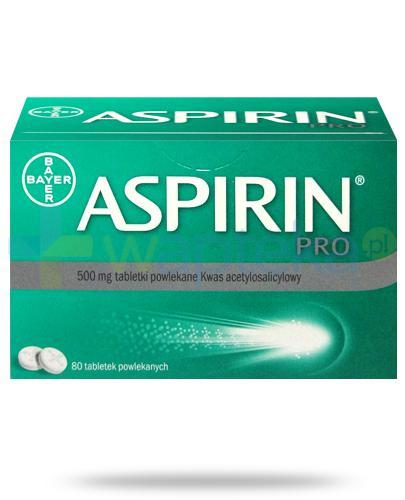 Aspirin Pro 500mg 80 tabletek powlekanych