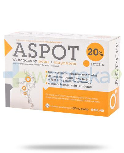 Aspot potas wzbogacony o formułę LenCover 60 tabletek