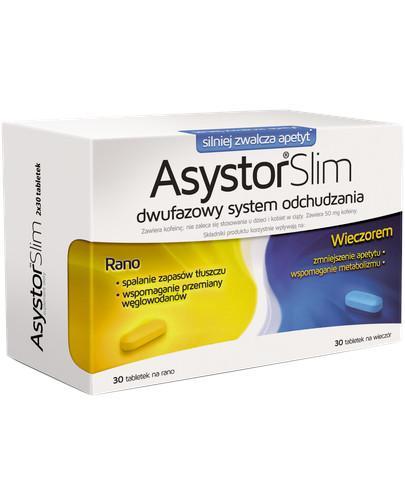 Asystor Slim dwufazowy system odchudzania 2x 30 tabletek