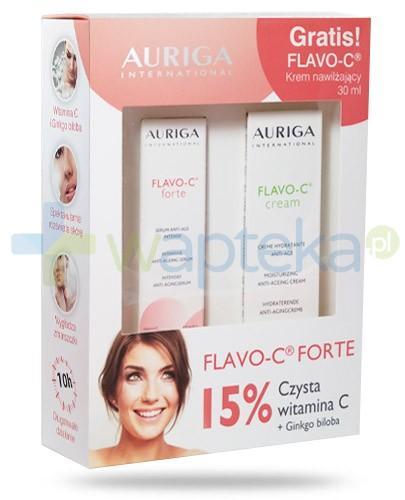Auriga Flavo-C Forte serum przeciwstarzeniowe do twarzy 15 ml + Auriga Flavo-C krem przeciwstarzeniowy 30 ml