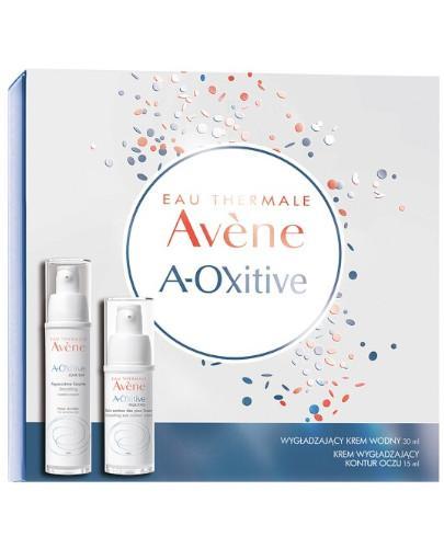 Avene A-Oxitive Wygładzający krem wodny 30 ml + krem wygładzający kontur oczu 15 ml [ZESTAW]