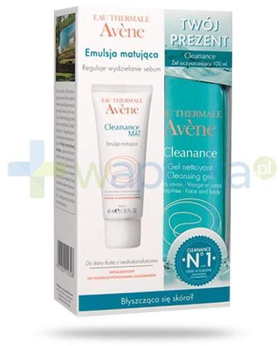 Avene Cleanance Mat emulsja matująca 40 ml + Avene Cleanance żel oczyszczający 100 ml