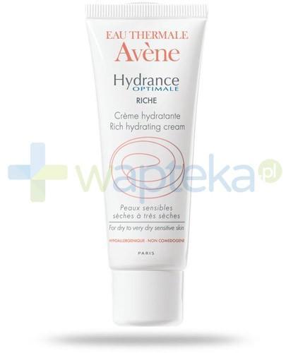 Avene Hydrance Optimale Riche Krem nawilżający do skóry wrażliwej i suchej 40 ml