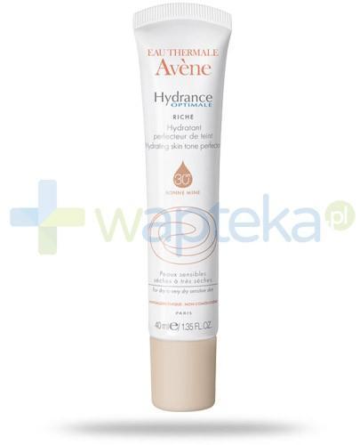 Avene Hydrance Optimale Riche nawilżający krem SPF30 wyrównujący koloryt skóry 40 ml + prezent od Avene GRATIS